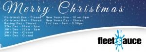 Fleetsauce Christmas Opening Hours